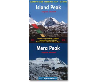 Island Peak, Mera Peak - Mapa
