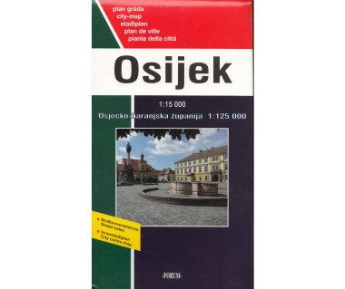 Osijek city map + map of region
