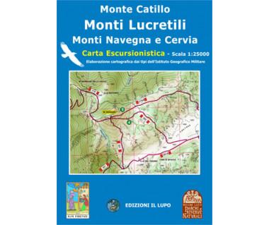 Monti Lucretili, Monti Navegna - Mapa