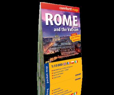Rome and the Vatican plan laminowany kieszonkowy