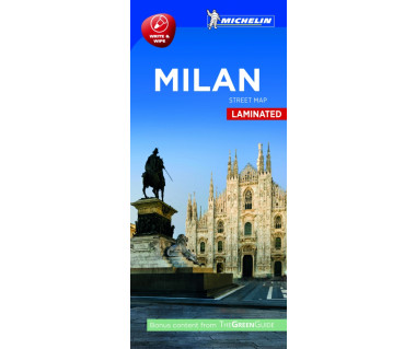 Milan street map laminated