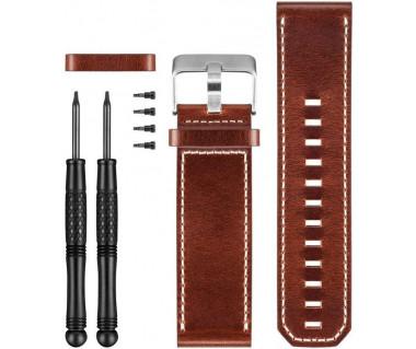 Pasek do zegarka Fenix 3 skórzany k:brązowy