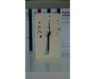 """Podpórka pod książki """"Drzewko"""" lakierowana beżowa"""