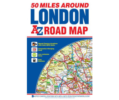 London 50 Miles Around Road Map