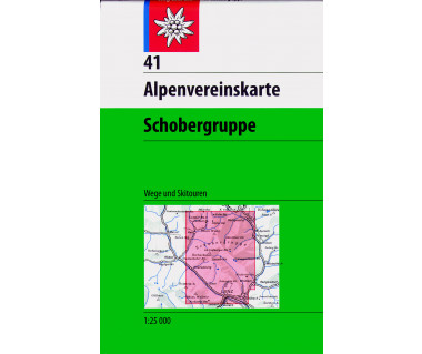 Schobergruppe - Mapa turystyczna