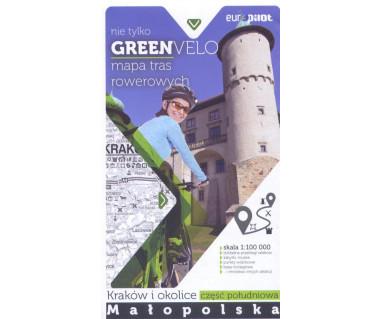 Green Velo mapa rowerowa Kraków i okolice cz. południowa