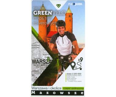 Green Velo mapa rowerowa Warszawa i okolice cz. północna