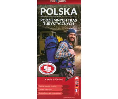 Polska mapa podziemnych tras turystycznych
