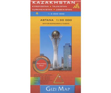 Kazakhstan (political) - Mapa