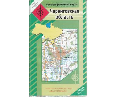 Czernihowski Obwód mapa topograficzna