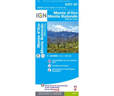 IGN 4251 OT Monte d'Oro / Monte Rotondo / PNR de Corse
