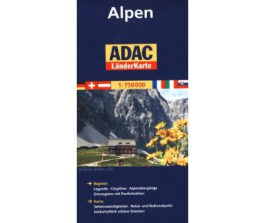 Alpen - Mapa