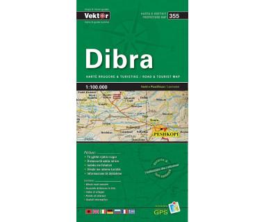 Dibra (355) Albania - Mapa