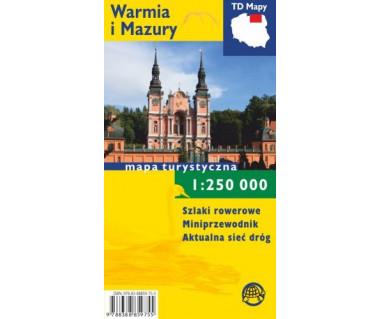 Warmia i Mazury mapa laminowana