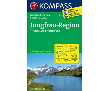Jungfrau-Region - Mapa turystyczna laminowana