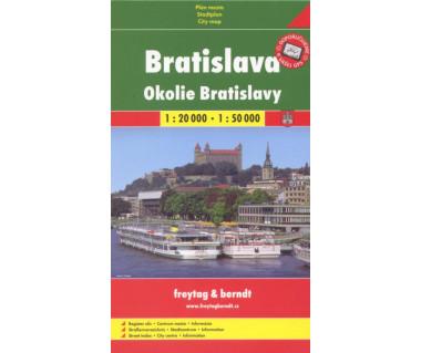 Bratislava, Okoli Bratislavy - Mapa