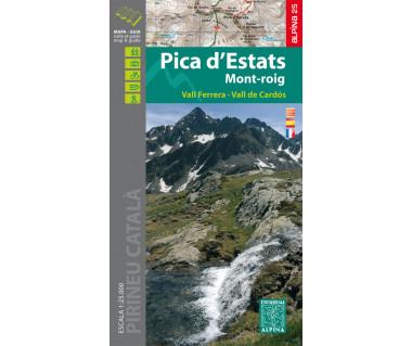 Pica d'Estats Mont-roig - Mapa turystyczna