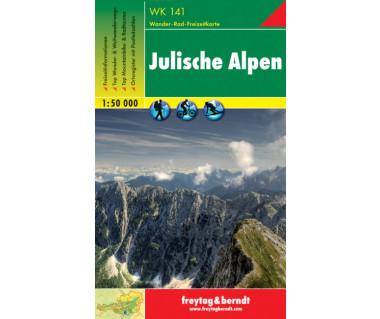 WK 141 Julische Alpen - Mapa
