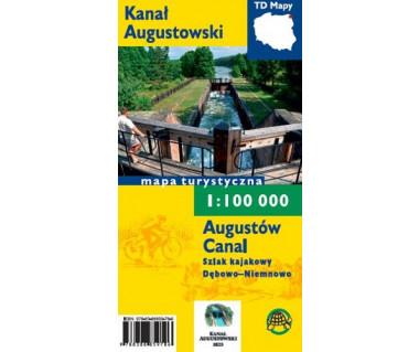 Kanał Augustowski mapa turystyczna foliowana