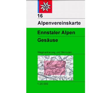 Ennstaler Alpen, Gesause - Mapa turystyczna