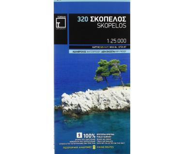 Skopelos - Mapa wodoodporna