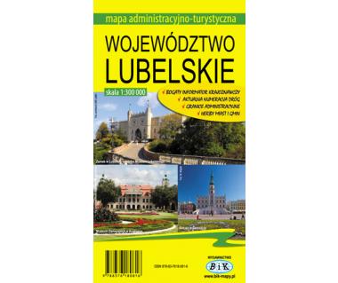 Województwo lubelskie mapa administracyjno-turystyczna