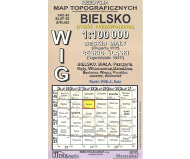 WIG 49/28 Bielsko (plansza) reedycja z 1934 r.