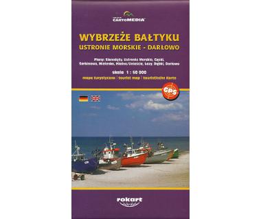 Wybrzeże Bałtyku- Ustronie Morskie- Darłowo - Mapa
