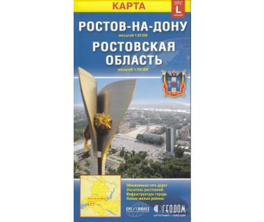 Rostów nad Donem plan miasta i obwodu