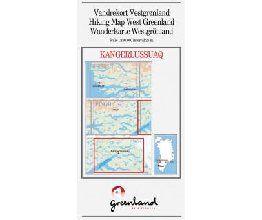 Kangerlussuaq. Hiking Map West Greenland