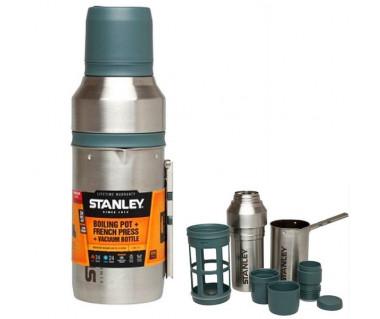 Turystyczny zaparzacz do kawy z termosem Boiling Pot + French Press + Vacuum Bottle 1 l