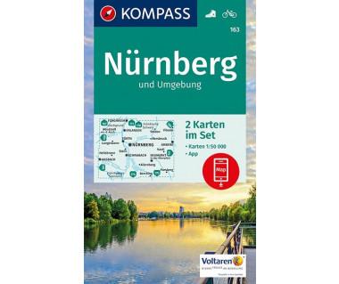 K 163 Nurnberg und Umgebung (2 mapy kpl.)