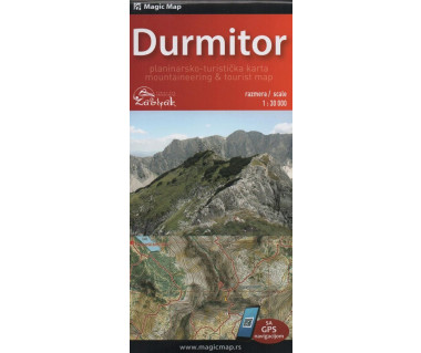 Durmitor mountaineering & tourist map