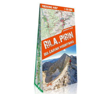 Rila & Pirin, Bulgarian Mountains trekking map