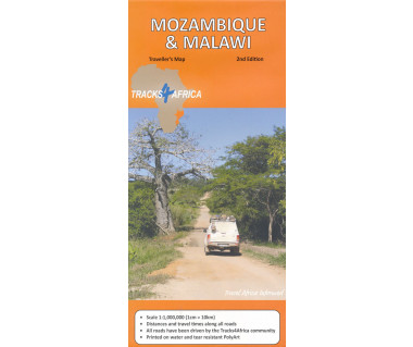 Mozambique & Malawi traveller's map