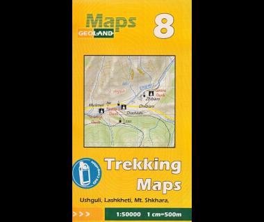 Gruzja mapa trekkingowa 8 (Ushguli, Lashkheti, Mt.Shkhara)