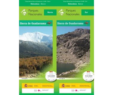 Parque Nacional de la Sierra del Guadarrama (2 mapas + guía) Norte, Sur