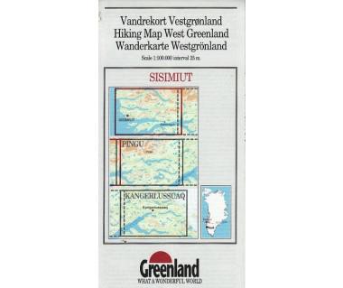 Sisimiut. Hiking Map West Greenland