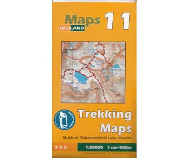 Gruzja mapa trekkingowa 11 (Mukhuri, Tobavarchkhili Lake, Khaishi)