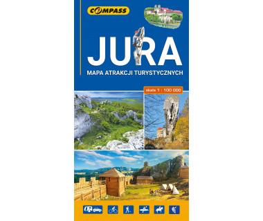 Jura mapa atrakcji turystycznych