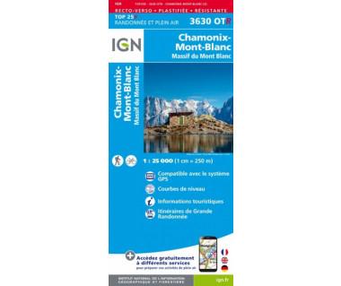 IGN 3630 OTR Chamonix Massif du Mont Blanc