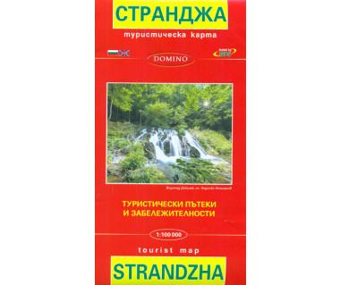 Strandża/Strandzha mapa turystyczna