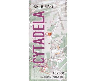 Cytadela Poznańska-Fort Winiary: Plan parku i fortyfikacji