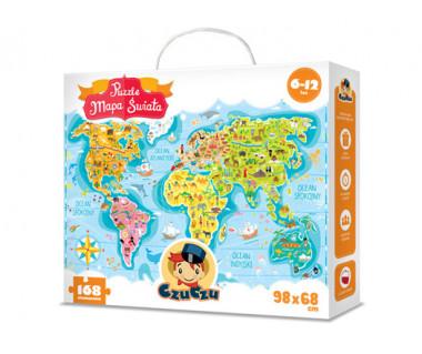 Puzzle Mapa Świata (168 elementów)
