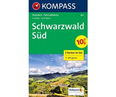 K 887 Schwarzwald Sud (2 Karten im Set)