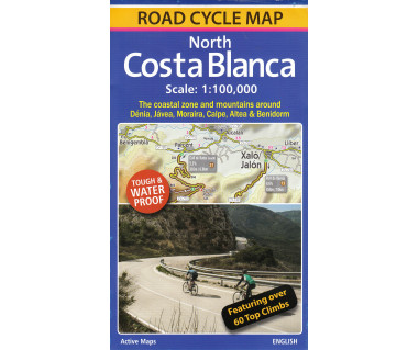 North Costa Blanca Road Cycle Map