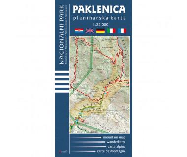 Paklenica Nacionalni Park planinarska karta