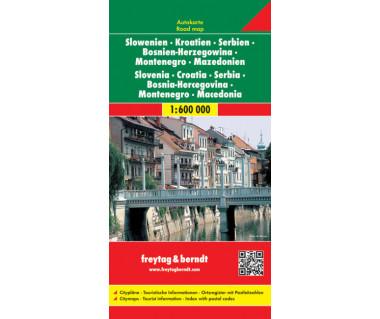 Slowenien-Kroatien-Serbien-Bosnien-Montenegro-Mazedonien