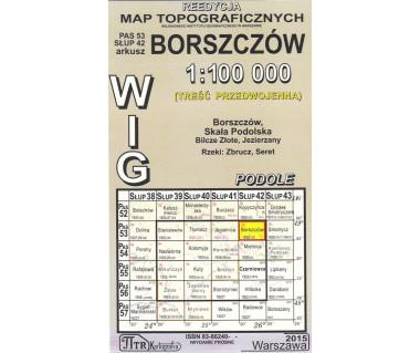 WIG 53/42 Borszczów (plansza) reedycja
