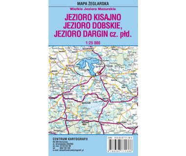 Jezioro Kisajno,Dobskie,Dargin cz. płd. mapa foliowana